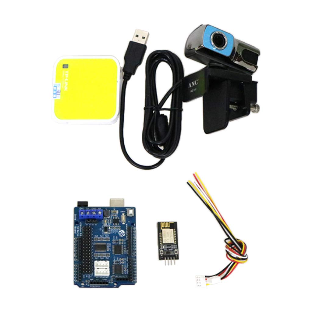 Flameer WiFi Smart Robot Car Kit for Arduino R3,Remote Control HD Camera Robotics Learning & Educational Electronic Toy