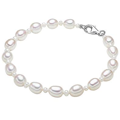 05cded3b7598 Valero Pearls - Pulsera de perlas embellecida con Perlas de agua dulce -  Hilo de seda