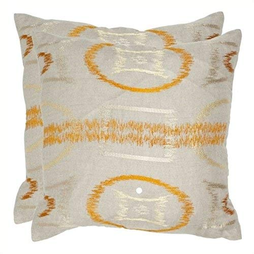Safavieh Pillow Collection Throw Pillows, 22 by 22-Inch, Reese Orange, Set of 2 [並行輸入品]   B07GD9GY33