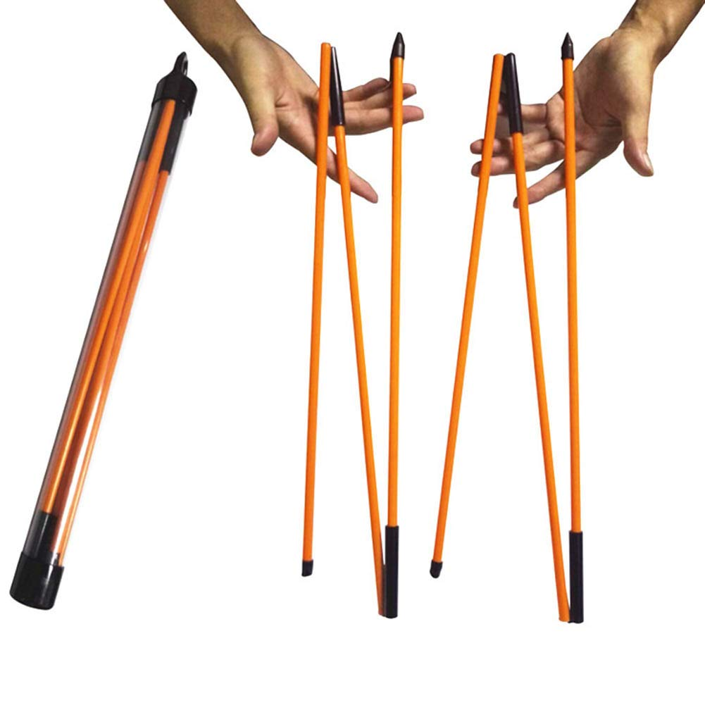 Sportstorm Golf Alignment Sticks - Collapsible Alignment Sticks, Glass Fiber Training and Prictice Golf Sticks, Perfect Training Aid for Practice, Fits in Your Golf Bag (2 Pack)
