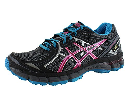ASICS Women's GT 2000 2 G-TX Running Shoe,Titanium/Fuchsia Purple/Black,6.5 M US