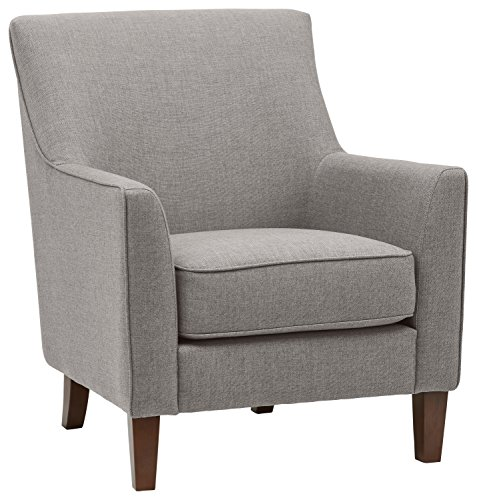 Stone & Beam Cheyanne Modern Living Room Accent Arm Chair, 30.7″W, Storm
