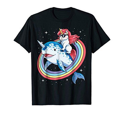 Unicorn Narwhal T shirt Squad Girls Kids Rainbow (Narwhal Unicorn Costume)