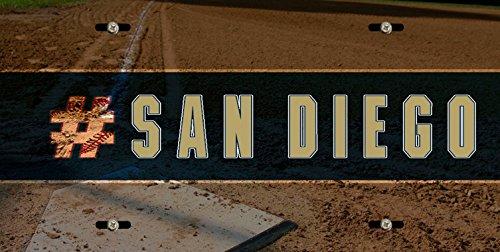 BleuReign(TM) Hashtag San Diego #SanDiego Baseball Team Car Vehicle License Plate Auto Tag]()