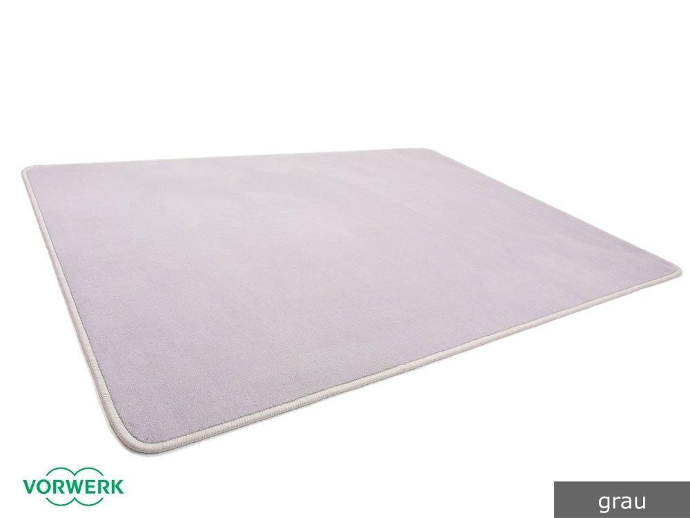 Vorwerk Bijou grau der HEVO® Spielteppich nicht nur für Kinder 200x400 cm