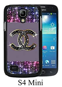 Chanel 53 Black Abstract Custom Design Samsung Galaxy S4 Mini Protective Phone Case