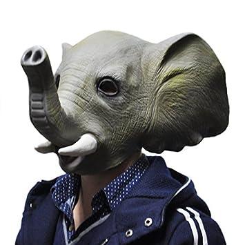 El látex de Halloween máscara de elefante traje animal Prop
