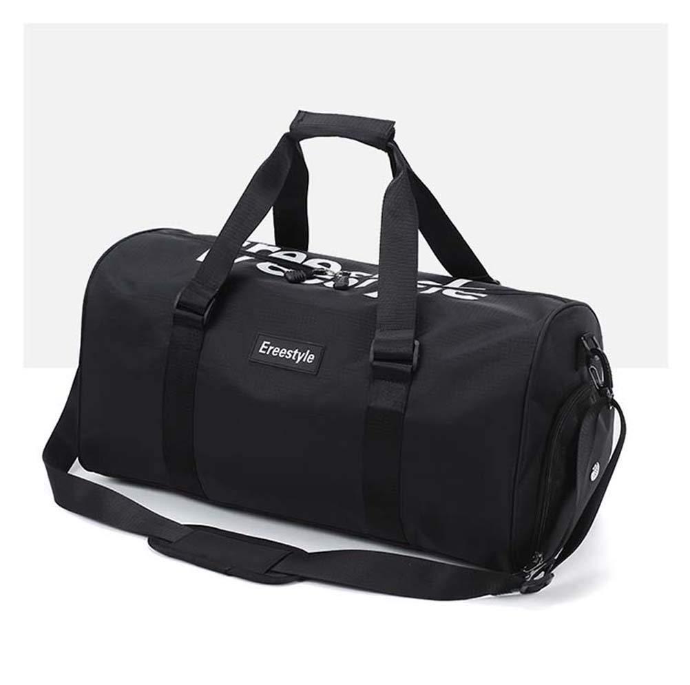 WngLei Reisetasche Große Kapazität Tragbare Fitness Tasche Männliche Leichte Gepäcktasche Weibliche Kurze Reisetasche Falten Sport Verpackung (Farbe   schwarz) B07L4L39SW Klassische Sporttaschen Elegant