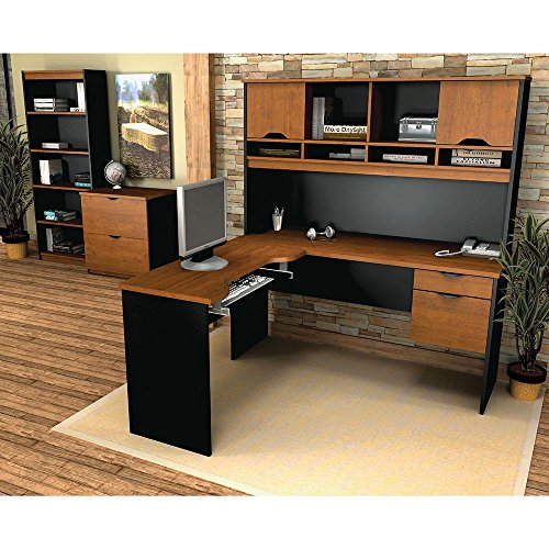 Innova L Desk Office Grouping Weight: 407 lbs Tuscany Brown/Black