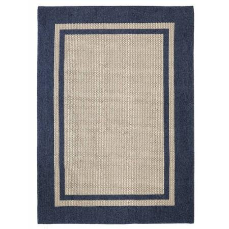 8' x 10' Mohawk Home Solid Border Textured Tufted Area Rug, Dark Blue- Family Room Ideas - Make quick & easy changes to any room in your home in minutes by changing the rug - add color & patterns