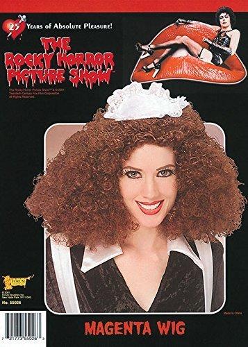 Rocky Horror Magenta Wig Costume Accessory (Dress Rocky Horror)