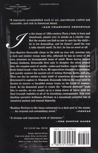 Perfume book by patrick süskind