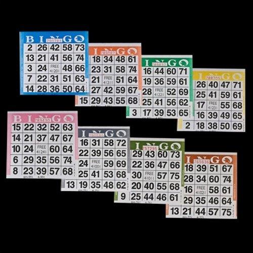 高い素材 BINGOペーパーカード – 1カード – 8シート 8シート 1カード – – 100のパック8シート – 800カード B00IA0FRNC, アサヒシ:bcdf8e1b --- realcalcados.com.br