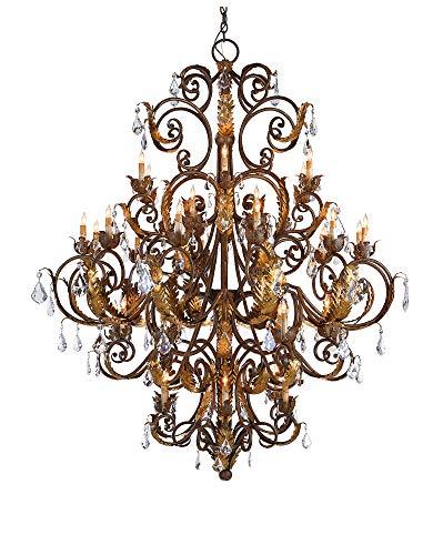 - Currey and Company 9530 Innsbruck - Thirty-Nine Light Chandelier, Venetian/Gold Leaf Finish with Swarovski Crystal