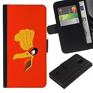 JackGot ( Cartoon Angry Bird ) Samsung Galaxy S5 Mini (Not S5), SM-G800 la tarjeta de Crédito Slots PU Funda de cuero Monedero caso cubierta de piel