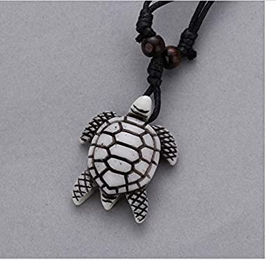 Zmnbaa Tribal Imitation Yak Bone White Brown Carved Turtle Charms Pendants Necklace Unisex Vintage Amulet Gift Blessing Lucky Jewelry Amazon Co Uk Jewellery