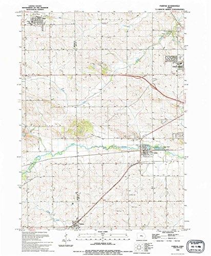 YellowMaps Fairfax IA topo map, 1:24000 Scale, 7.5 X 7.5 Minute, Historical, 1993, Updated 1994, 26.8 x 22.1 in - Paper (Fairfax Dark Cherry)