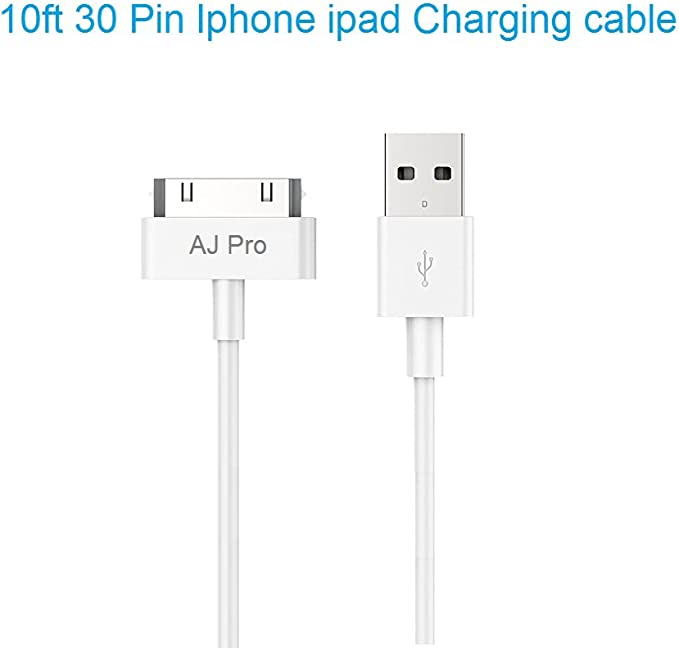 10 X USB SYNC DATA POWER CHARGER CABLE APPLE IPAD IPHONE 4S 4 3GS IPOD NANO PINK