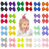 30PCS Sparkly Glitter Hair Bows With Rubber...