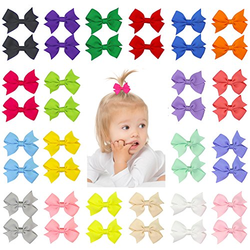 Top toddler girl hair bows with clip