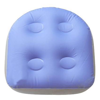 Flushzing Cojín Multifuncional niños de Adulto De Nuevo cojín Bañera de hidromasaje SPA Masaje Suave Mat Inflable del Asiento Elevador