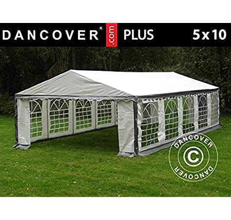 Dancover Carpa para Fiestas Carpa Eventos Plus 5x10m PE, Gris/Blanco: Amazon.es: Jardín