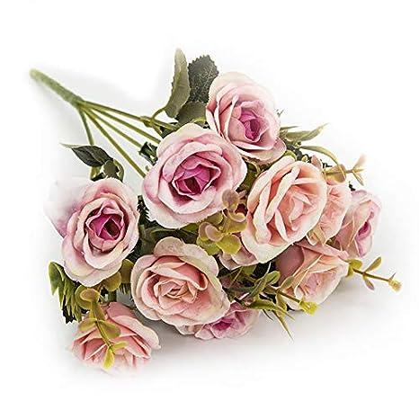Diseño floral rosa//azul 100/% Algodón Cuarto Gordo paquete 5 telas Craft//quilting