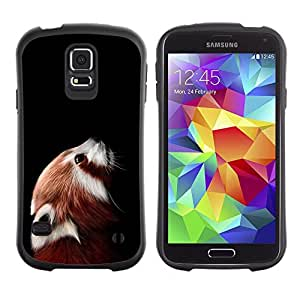 Paccase / Suave TPU GEL Caso Carcasa de Protección Funda para - Little Red Panda Bear Cute Face Portrait Animal - Samsung Galaxy S5 SM-G900