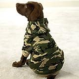 GREEN – X-LARGE – Fashionable, Warm Camo Fleece Hoodies, My Pet Supplies
