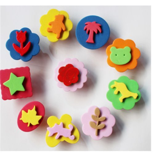 auch-10pcs-cute-decorative-eva-foam-stamps-for-kids-childrens-painting-seal-baby-rubbing-tools-assor