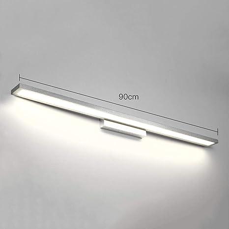 A Prova Di Umidit/à Gabinetto Lampada A Muro Moder Oro Luce Per Armadio A Specchio Color : Positive white light-12W//52CM Tovaglia Compongono La Luce Lampada Da Specchio A LED Per Bagno