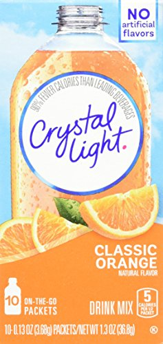 Crystal Light Classic Orange Drink Mix (10 On the Go Packets)