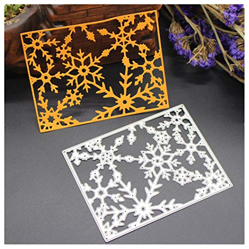 (Cloudro Christmas Cutting Dies for Card Making,Clearance Metal Cut Dies Stencil Template Mould for DIY Scrapbook Embossing Album Paper Card Craft (Christmas Snowfake))
