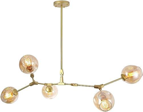 CCSUN Nordic E26 Glass Ball Sputnik Chandelier