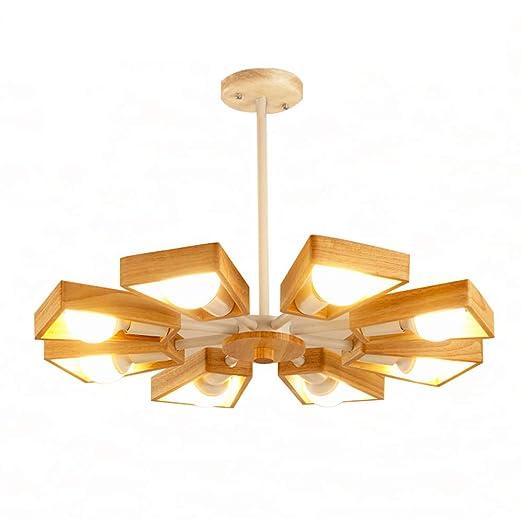 WWWJ Lámpara Colgante Moderna de Estilo Simple de 8 Luces, lámpara ...
