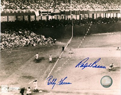 Autographed Bobby Thomson & Ralph Branca Ny Giants & Brooklyn Dodgers Photo