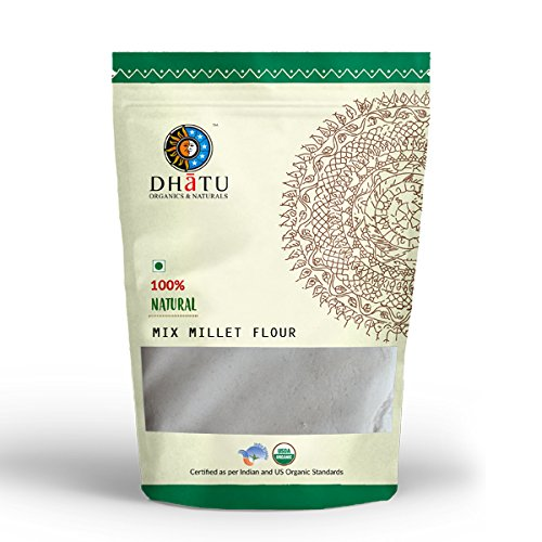 Mix Millet flour 100% best quality - Diabetic Friendly & Gluten Free Pure Indian taste cuisine Indian food - Quick cook, good for health 500g