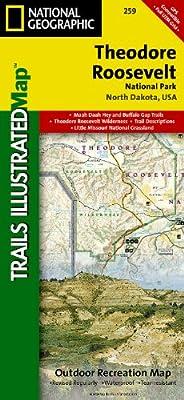 Teddy Roosevelt National Parks Map