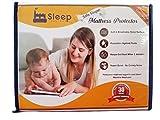 "Sleep Factory - Mattress & Sofa Bed Sleeper Protector | Total Safety From Spillage, Dust Mite & Bedbugs, Hypoallergenic, Waterproof, Premium 100% Jersey Cotton, Queen Size (60x80""), 6"" Depth, White"