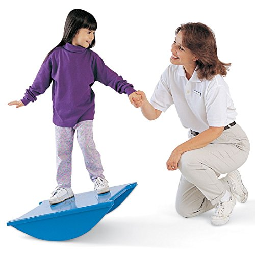 Tumble Forms 2 Soft-Top Rocker Balance, Rocking Balance Therapy Aid for Exercise, Patient Exercise Aid for Hospitals, Clinics, Home, Balance Trainer, Wobble Board, Non-Slip Standing Balance Platform