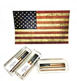 PKM USA DISTRESSED FLAG LABEL CAST ACRYLIC PEN BLANK FITS 30 CAL BOLT ACTION