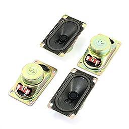 uxcell 5W 8 Ohm 90mm x 50mm Rectangle Shell Magnet TV Speaker Loudspeaker x 4