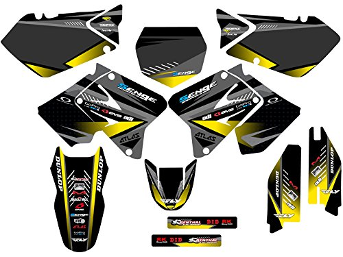 Senge Graphics 2001-2014 Suzuki RM 125/250, Surge Black Graphics Kit Senge Graphics Inc.