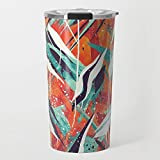 Society6 Ceramic Coffee Mug, 20 oz oz, Solar Flare abstract by bospencer