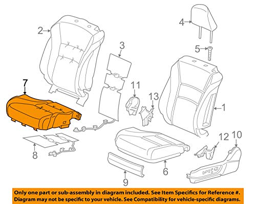 Honda Genuine 81131-SDA-L41ZA Seat Cushion Trim Cover Front Right