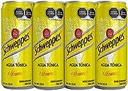 SCHWEPPES, Agua Tónica 355 ml, Lata Sleek, 12 piezas
