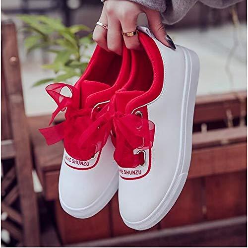 PU Comfort Spring Flat Sneakers de ZHZNVX Red Zapatos Heel Mujer White Green Poliuretano Black FqwxYctgX