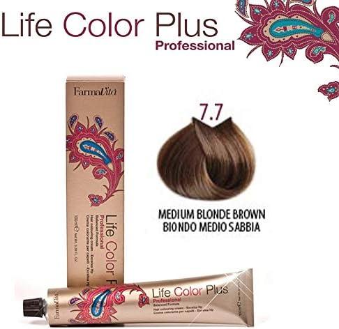 Farmavita Life Color Plus, Tinte 7.7 Rubio Medio Marrón - 60 ml