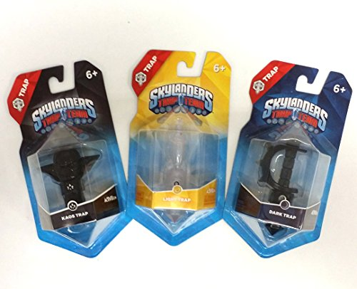 Skylanders Trap Team Kaos, Dark Sword, and Light Element Trap Combo Set