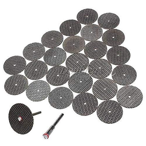 10 Mandrin NOBLJX 100Pcs 32mm Disques de Roue de Pon/çage Disque de Coupe /à Fibres en R/ésine Avec Roue de Coupe Doutils Rotatifs Dremel